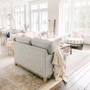 Finn Hand Knotted Wool Rug White Couch Living Room Pottery Barn Living Room White Sectional