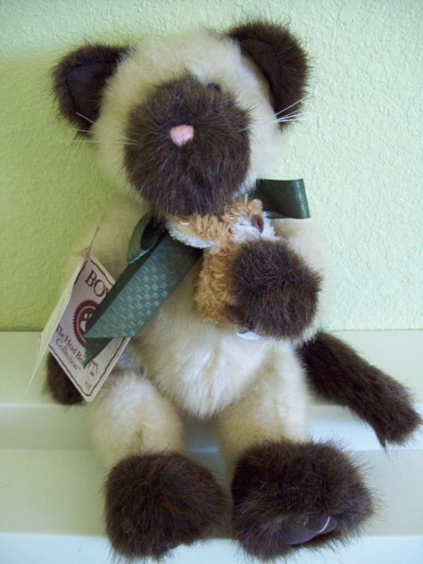Boyds Jointed Siamese Kitty Cat 11