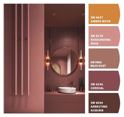 Paint Colors From Colorsnap By Sherwin Williams Orange Paint Colors Dining Room Colors Bathroom Colors