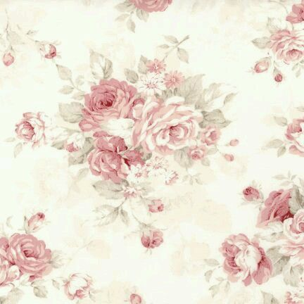 Romantic Country Roses on a Large Cream on Cream Stripe  LY4305