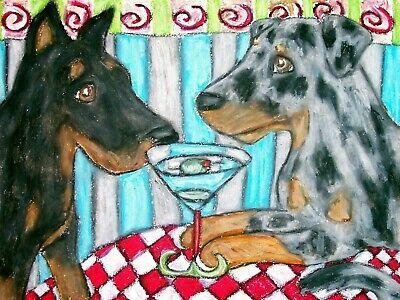 MARTINI art shar pei dog  poster gift modern folk art  4x6  GLOSSY PRINT
