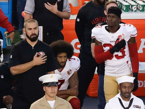 Colin Kaepernick Kneels During Chargers Game in Continued National Anthem…