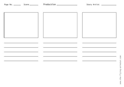 Storyboard Template X   Template    Storyboard And