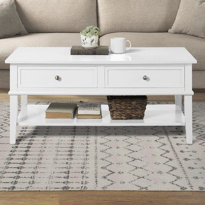 Beachcrest Home Dmitry Coffee Table With Storage In 2020 Decorating Coffee Tables Decor Coffee Table With Storage
