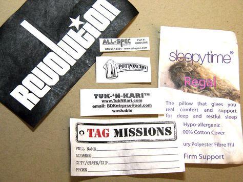 Tyvek Printed Labels for Furniture, some apparel, Cars, Sleepbags, Mattresses etc..