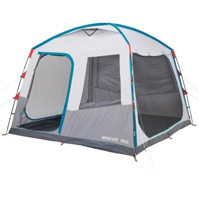 Quechua Arpenaz Base Fresh Large Camping Shelter 10 Man In 2020 Camping Mat Tent Decathlon