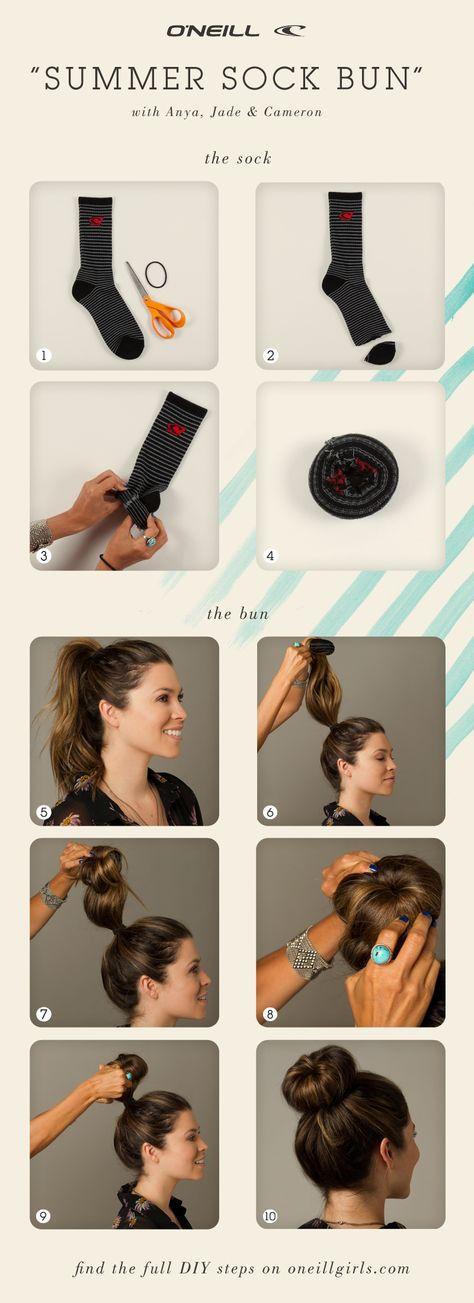DIY: Six interesting sock projects , DIY Sock Bun