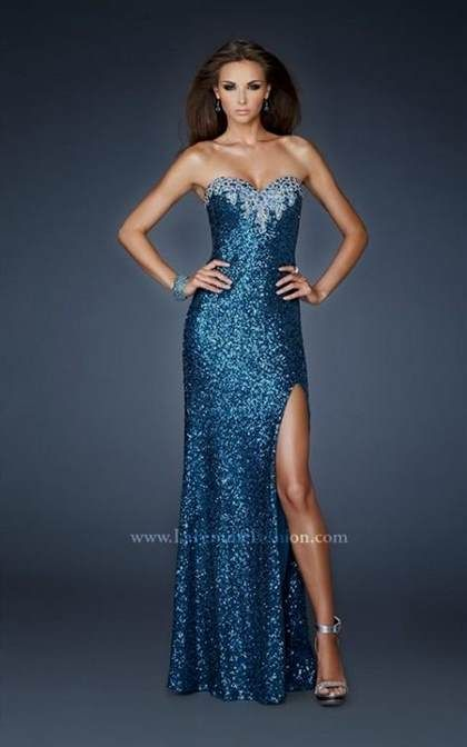 Awesome blue sparkly prom dress with straps 2018/2019 Check more at ...