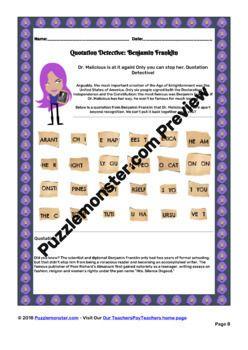The Enlightenment Period Worksheets Bundle Of No Prep Worksheet