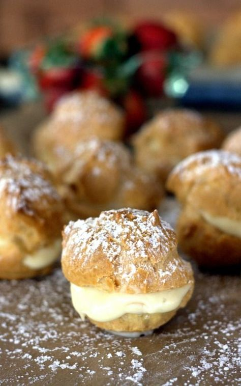 This easy Bavarian Cream Puff recipe is a keeper. The classic cream puffs turn out every time, and are filled with an easy Bavarian cream kn...