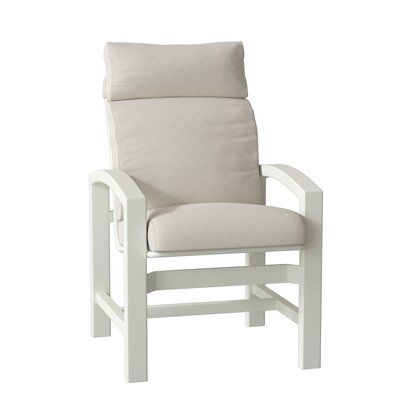 Tropitone Lakeside Patio Dining Chair With Cushion Frame Color Shell Cushion Color Gold Coast In 2020 Patio Dining Chairs East Wood Outdoor Chairs
