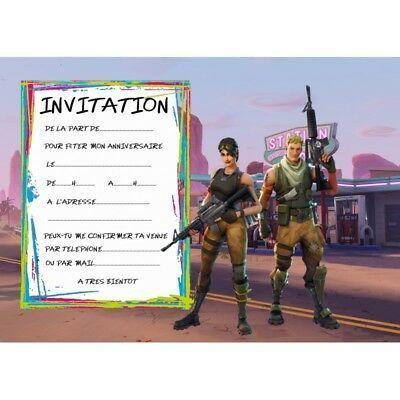 5 cartes invitation anniversaire
