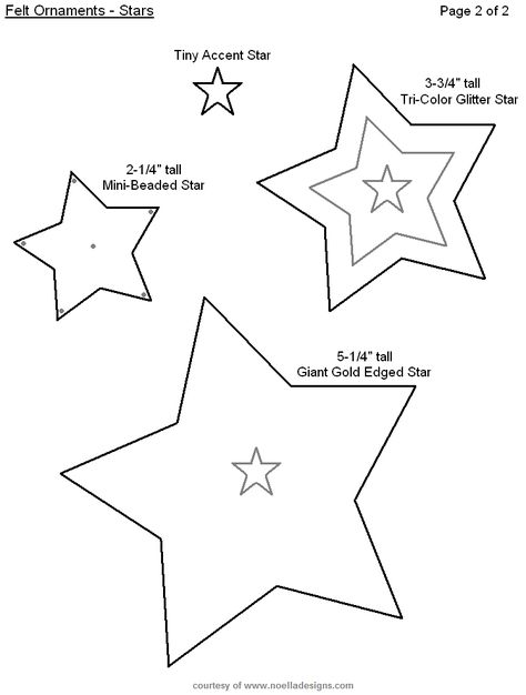 Felt Christmas Ornaments  Diy Christmas Crafts  Star Stencil