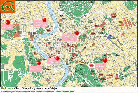 Mapa De Roma Turistico.Pin De Pato Gorga En Mapas Mapa De Roma Mapa Turistico Y