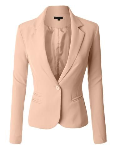 Don't think twice about this classic fitted boyfriend blazer jacket! It is a… Don't think twice about this classic fitted boyfriend blazer jacket! It is a must have for any occasion. This classic blazer is perfect for business and every…