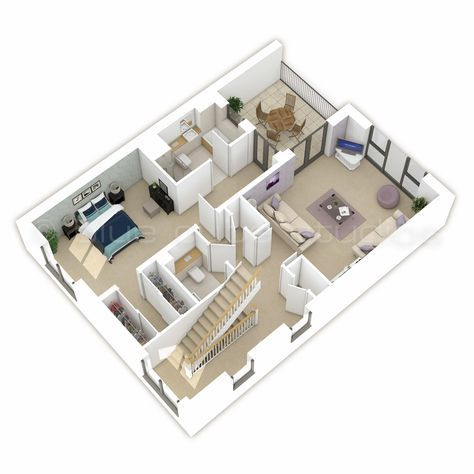 Property Cgi 3d Floor Plan Otium First Floor Floor Plans Apartment Layout Flooring