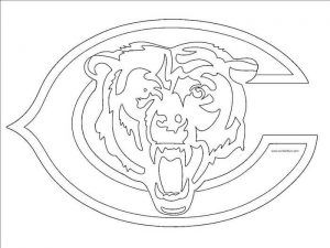 Nfl Logo Coloring Pages Printable In 2020 Bear Stencil Bear Coloring Pages Chicago Bears Logo