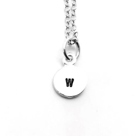 Sterling Silver Stamped Initial W Charm