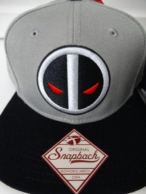 264b1cd8be7 Deadpool X-Force Logo Marvel Comics Flatbill Snap Back Hat Nwt  Marvel   BaseballCap