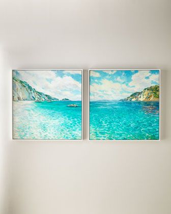 Rfa Fine Art Crystal Cove Wall Art Set Of 2 Rfa Fine Art Beach House Art Wall Art Sets