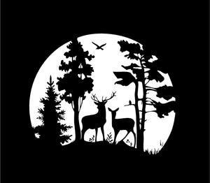hunter decals doe phone decal 20 Deer Skull Antler Stickers laptop decal man cave buck  deer stickers hunting decals