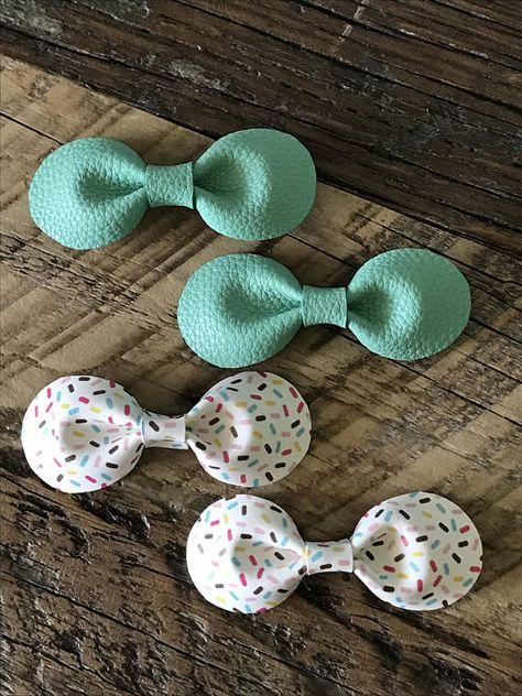 7c415c01c7cc Classic Leather Knot Bow // Toddler/Baby nylon elastic headband ...
