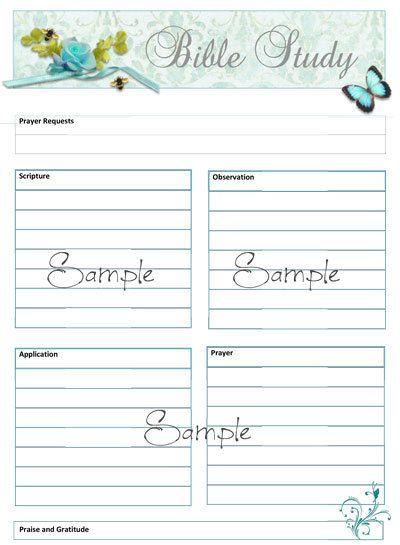 SOAP Bible Study Worksheet Template Study, Soaps and Bible studies - sample spreadsheet template