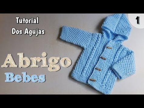 Chaqueta con Capucha O Cuello Patrón de Tejer Bebé Niño Niña Aran Cuello en V Cardigan
