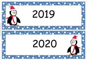 Penguin Calendar Numbers In Romanian Calendar Cu Pinguini In Limba Romana Kids Calendar Teaching Time Learning Time