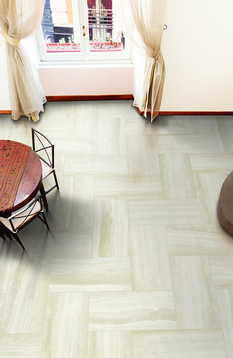 Mohawk Flooring's Trovato tile, available in Canvas Beige