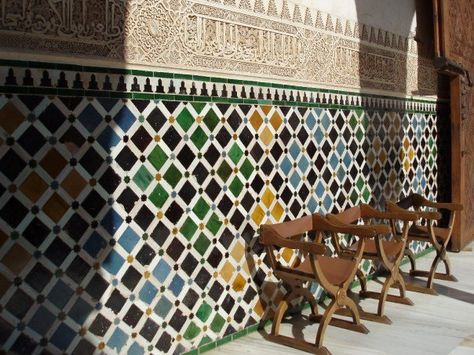 Tiled Wall In The Alhambra Granada Spain Wall Tiles Home Decor Design