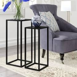 Evelyn 2 Piece Nest Of Tables Side Table Side Table With Storage Coffee Table