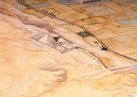 Dachour Jean Claude Golvin Louxor Egypte Pyramide De Gizeh Louxor