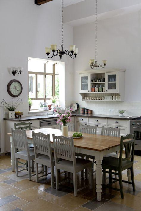 Cuisine sans meubles hauts