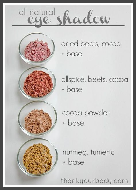 All Natural Homemade Eyeshadow Recipe DIY Natural Beauty diy makeup recipes - Makeup Recipes Diy Beauty Tutorials, Diy Beauty Hacks, Beauty Hacks For Teens, Diy Hacks, Makeup Hacks, Diy Beauty Makeup, Makeup Ideas, Beauty Tips And Tricks, Beauty Ideas