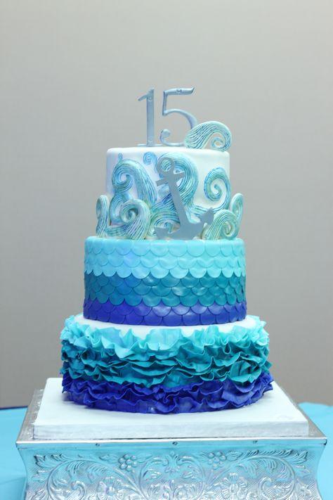 Sweet 15 ocean cake.