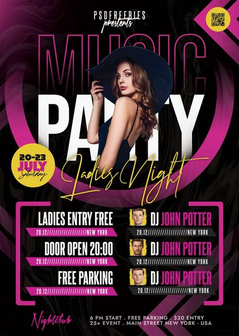 Awesome Club Party Flyer PSD Template | PSDFreebies.com