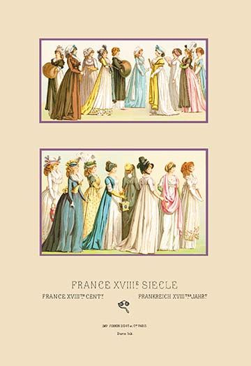 French Gowns 1694 1800 By Auguste Racinet Art Print 9785871465592 Augusteracinet Buyenlarge New Worldfashion Art Prints Graphic Art Art