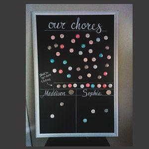 Chalkboard Chore Chart Kids Chore Chart Reward Chart Family