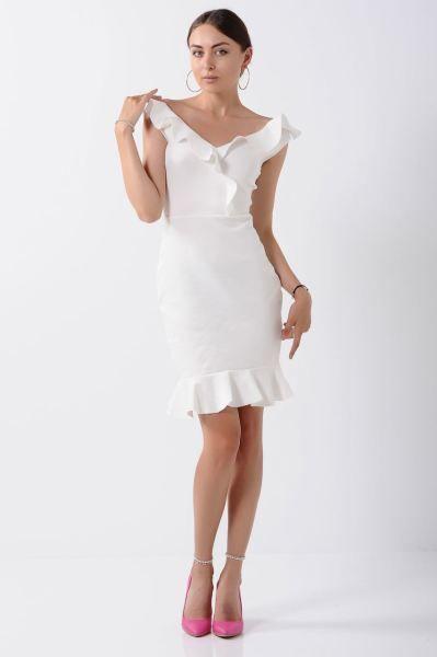 Elbise Kalp Yaka Firfirli Beyaz Elbise Elbise Kombin Genc Alisveris Kapali Style Dugun Salas Marjinal Gotik Bayangiyim Tarzi Butik Genc Abiye