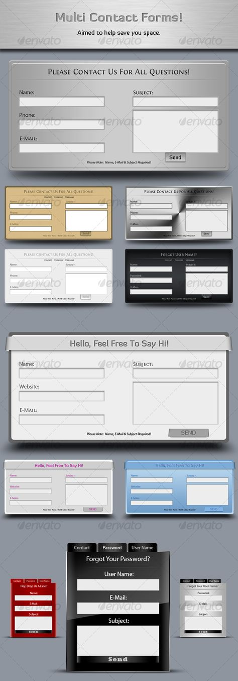 Contact Forms Box Web 20 Contact form, Web forms and Box - contact form template word