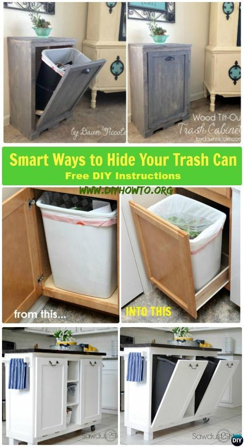 Diy Trash Can Cabinet Projects