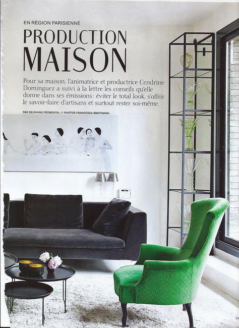 Weekly Faves 5 Inspiring Spaces Charcoal sofa, Chic living room - faire son plan de maison soi meme