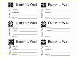 Image Result For Sweepstakes Entry Form Template Raffle Ticket