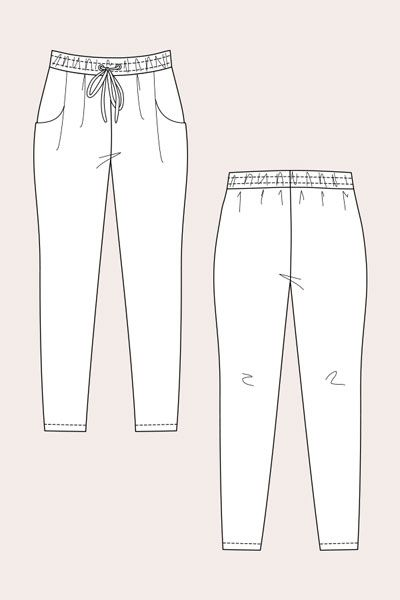 Digital Alexandria Peg Trousers + Track Shorts Sewing Pattern | Shop | Oliver + S