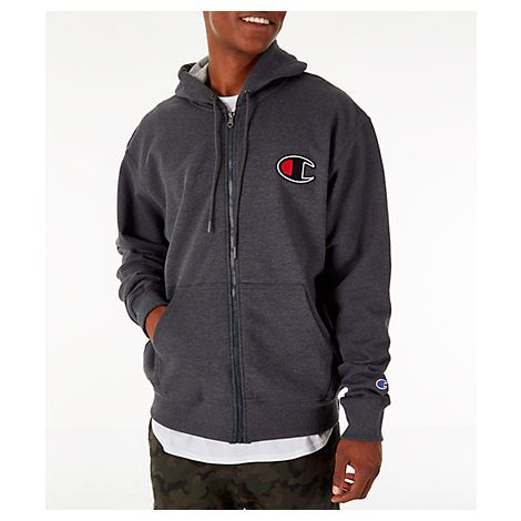 ad441253 CHAMPION MEN'S CHAMPION POWERBLEND FULL-ZIP HOODIE, BLACK. #champion #cloth
