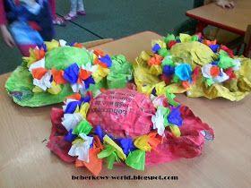 Boberkowy World Kapelusz Pani Wiosny Praca Przestrzenna Z Gazety Kids Costumes Necklace