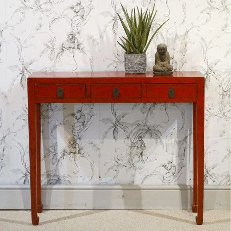 Very Shallow Red Console Table