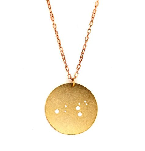 Lovers of astronomy and astrology alike will be dazzled by this constellation-themed pendant. #etsygifts