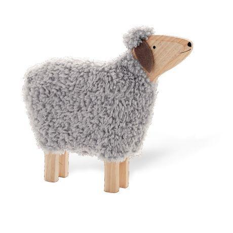 Deko Schaf Hanni Mit Echter Wolle Holz Ca B52 X T10 X H47 Cm Vorderansicht Schafe Schafe Basteln Und Deko